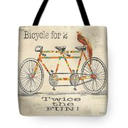 Bicycle For 2 Tote Bag