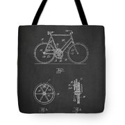 Bicycle Gear Patent Drawing From 1922 - Dark Tote Bag