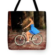 Bicycle Girl 1c Tote Bag