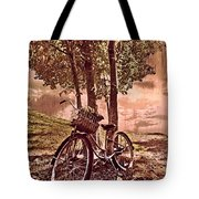 Bicycle In The Park Tote Bag