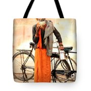 Bicycle Man Tote Bag