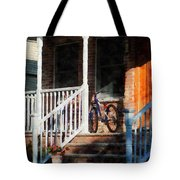 Bicycle On Porch Tote Bag
