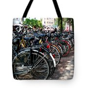Bicycle Parking Lot Tote Bag