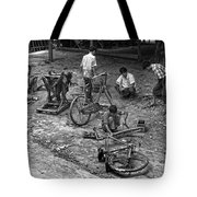 Bicycle Repair In Amarapura Tote Bag