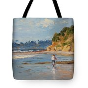 Bicycle Ride On Beach Tote Bag