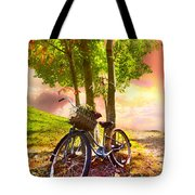 Bicycle Under The Tree Tote Bag