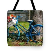 Bicycle With Basket Of Flowers Tote Bag