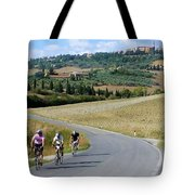 Bicycling In Tuscany Tote Bag