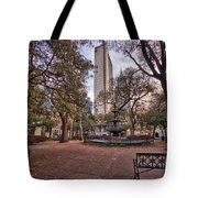 Bienville Spring With Benches Tote Bag