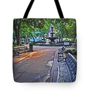 Bienville Square And The Bench 2 Tote Bag