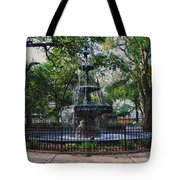 Bienville Square Fountain Closeup Tote Bag