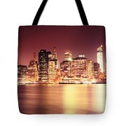 Big Apple - Night Skyline - New York City Tote Bag