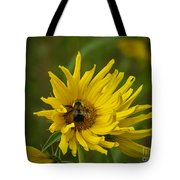 Big Beautiful Bumble Bee On Flower Tote Bag