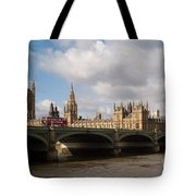 Big Ben And Houses Of Parliament Tote Bag