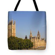 Big Ben And The Houses Of Parliament In London England Tote Bag