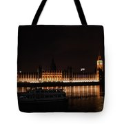 Big Ben And The Houses Of Parliment On The Thames Tote Bag