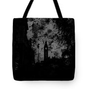 Big Ben Street Black And White Tote Bag