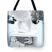 Big Bird Snow Sculpture Tote Bag