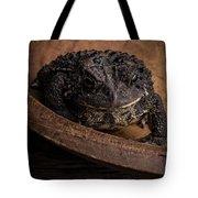 Big Black Toad Tote Bag
