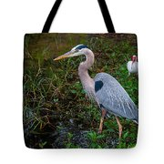 Big Blue And The Ibis Tote Bag