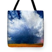 Big Cloud In A Field Tote Bag