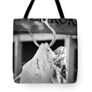 Big Cod Fish Hanging On The Hook Scale Tote Bag