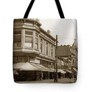 Big Curio Store Santa Cruz At 28 Pacific Avenue On The Corner Of Lincoln And Pacific. 1908 Tote Bag