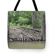 Big Cypress River Trees Tote Bag