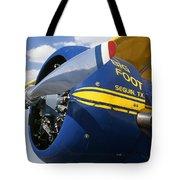 Big Foot Biplane Tote Bag