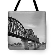Big Four Bridge Bw Tote Bag