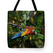 Big Glider Macaw Digital Art Tote Bag