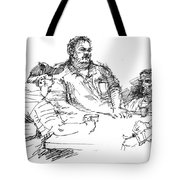 Big Guys And A Little Guy Tote Bag
