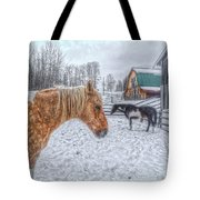 Big Horse  Little Horse Tote Bag by Skye Ryan-Evans