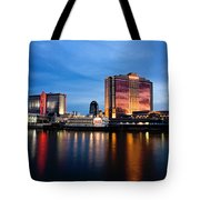 Big Night On The River Tote Bag by Scott Pellegrin