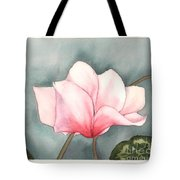 Big Pink Cyclamen Tote Bag