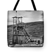 Big Pit Colliery Monochrome Tote Bag