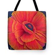 Big Poppy Tote Bag by Ruth Addinall