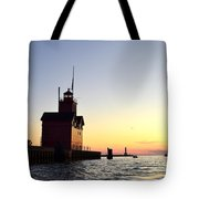 Big Red At Sunset Tote Bag by Michelle Calkins