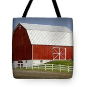 Big Red Barn In West Michigan Tote Bag