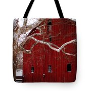 Big Red Bird House Tote Bag