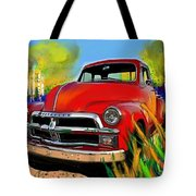 Big Red Chevy Tote Bag