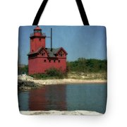 Big Red Holland Michigan Lighthouse Tote Bag