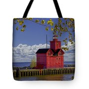 Big Red Lighthouse By Holland Michigan No.0255 Tote Bag
