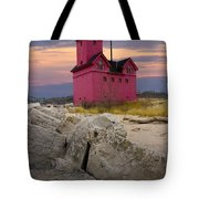 Big Red Lighthouse By Holland Michigan Tote Bag