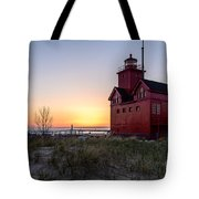 Big Red Lighthouse Tote Bag