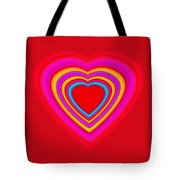 Big Red Love Tote Bag
