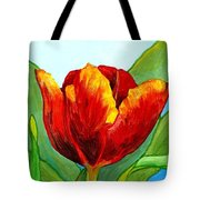 Big Red Tulip Tote Bag