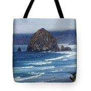 Big Rock On The Oregon Coast Tote Bag