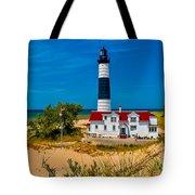 Big Sable Light On The Shore Tote Bag