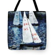 Big Sailors And Little Boats Tote Bag